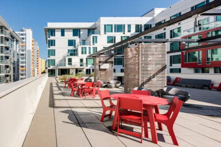 mosso rooftop terrce seating soma san francisco apartments