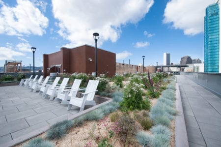 mosso roof deck seating area in san francisco apartment